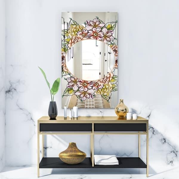 Designart Garland Sweet 29 Traditional Mirror Large Mirror On Sale Overstock 28022319