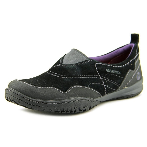 Merrell Albany Moc Women Leather Black Moccasins