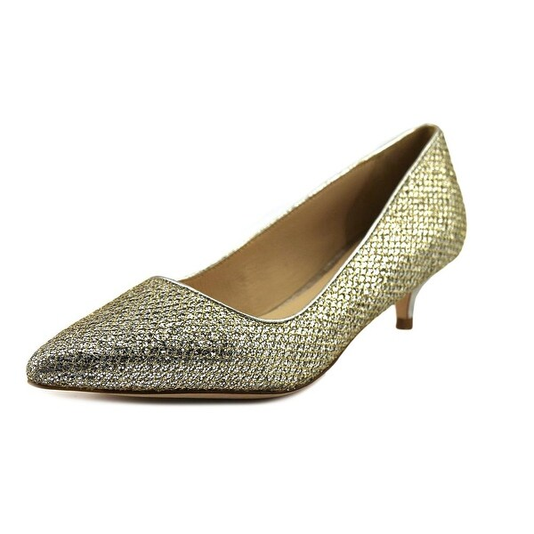 Cole Haan Bradshaw Pump 40 Women Pointed Toe Synthetic Gold Heels