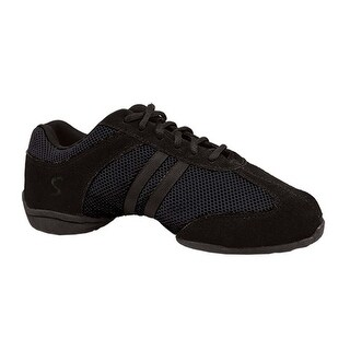 Sansha Adult Black Split Sole Suede Dyna-Mesh Low Top Sneakers Womens