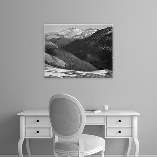 Easy Art Prints Ansel Adams's 'Long's Peak, Rocky Mountain National Park' Premium Canvas Art
