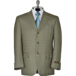 Joseph Abboud Signature Green Silk and Wool Sportcoat 40 Short Checked Blazer