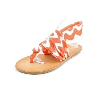 Dirty Laundry Beka 2 Women Open Toe Canvas Orange Thong Sandal