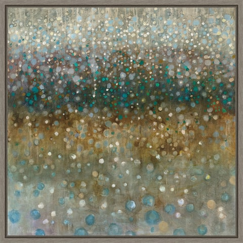 Abstract Rain by Danhui Nai Framed Canvas Art