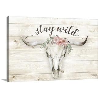 """Stay Wild"" Canvas Wall Art"