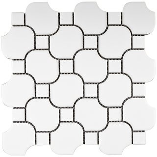 Link to TileGen. Halibon with Dot Random Sized Porcelain Mosaic Tile in White Floor and Wall Tile (11 sheets/10.12sqft.) Similar Items in Tile