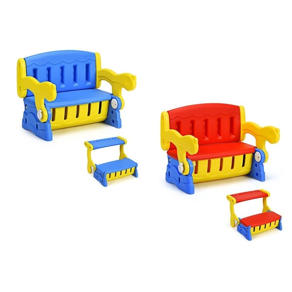 Kids Construction Activity Table Set for Writing Dining and Playing Games COSTWAY 3-in-1 Building Blocks Table and 2 Chairs Set with Storage