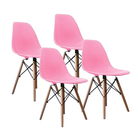 Porthos Home Mid-century Style DSW Modern Dining Chair,Set of 4