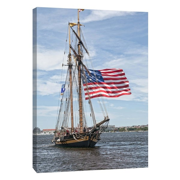 "PTM Images 9-105970 PTM Canvas Collection 10"" x 8"" - ""Pride of Baltimore Tall Ship"" Giclee Ships Art Print on Canvas"