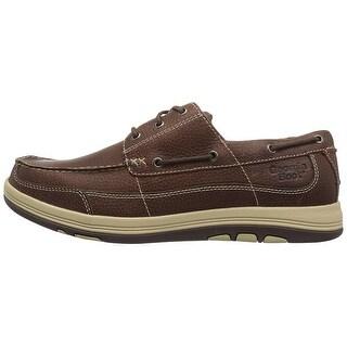 Georgia Boot Mens GB00076 Leather Closed Toe Boat Shoes - 9 w us