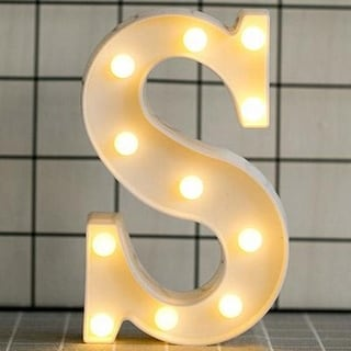 Luminous LED Letter Night Light English Alphabet Number Lamp Wedding Party Decoration Christmas Home Decoration AccessoriesS