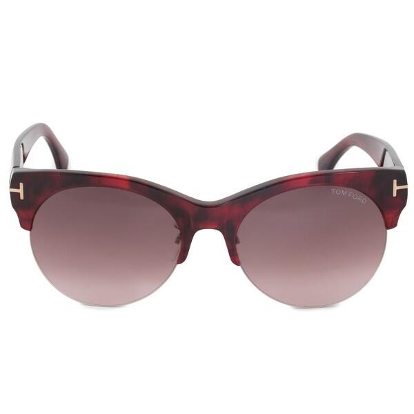 48271ac2f69b Tom Ford FT9350 68T Henry Sunglasses   Havana Semi-rimmed Frames &  Smoky Pink