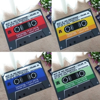 Retro Color Ribbon Tape Mats Anti-slip Rug Outdoors Carpets Front Door Doormat