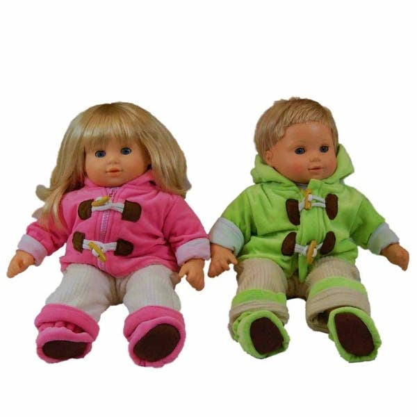 """Hot Pink Button Slippers 15/"""" Doll Clothes Fits American Girl Bitty Baby Twins"""