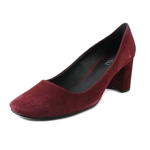 Vaneli Deon Women Round Toe Suede Burgundy Heels