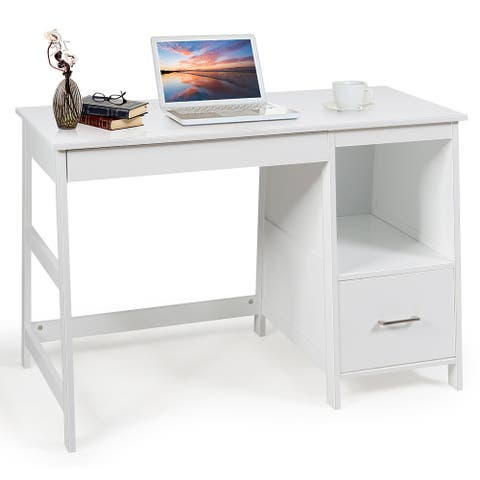 """47.5"""" Computer Desk with 2 Storage Drawers"""