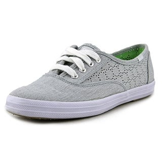 Keds Champion Perf Women Round Toe Canvas Gray Sneakers