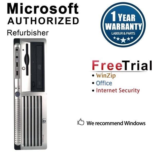 HP DC7700 Desktop Computer SFF Intel Core 2 Duo E6300 1.86G 2GB DDR2 80G Windows 7 Pro 1 Year Warranty (Refurbished) - Silver