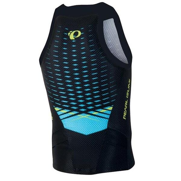 Pearl Izumi 201516 Men's PRO In R Cool Triathlon Singlet 13121401 blackgreen flash
