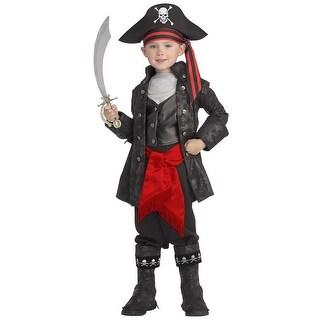 Kid's Captain Black Pirate Costume