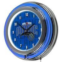 Trademark  NBA Chrome Double Rung Neon Clock, City - Orlando Magic