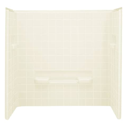 """Sterling 61044106 All Pro 60"""" x 30"""" x 56-1/4"""" Vikrell Shower Wall Set"""