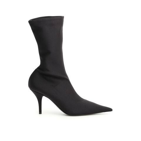 BALENCIAGA Women's Neoprene Knife Boot Shoes Blacks
