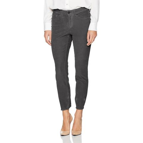 NYDJ Womens Pants Dark Gray Size 14 Ankle Corduroys Five Pocket Stretch