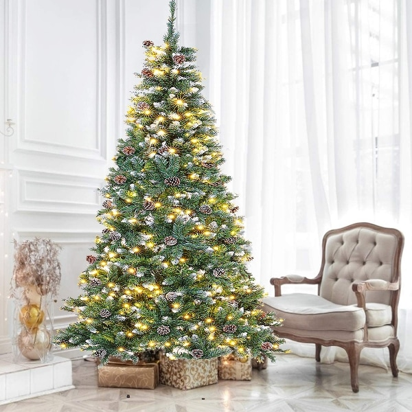 Suncrown 7FT Pre-Lit Artificial Full Spruce LED Christmas Tree. Opens flyout.