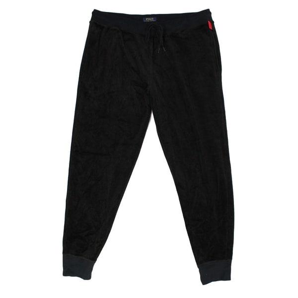 Polo Pants Sleepwear Black Size Xl Mens Lauren Velvet Lounge Ralph kiuTXOPZ
