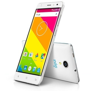 Indigi 4G LTE Smart Phone 5.0in IPS Android 6.0 Dual Sim WiFi AT&T T-Mobile Unlocked! - White