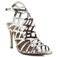 Ceresnia Adult Rain Gold Sling Back Ankle Strap High Heeled Sandals