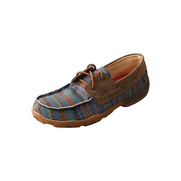 Twisted X Casual Shoes Men Driving Mocs Red Buckle Multi Color