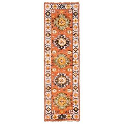 ECARPETGALLERY Hand-knotted Royal Kazak Copper Wool Rug - 2'0 x 6'5