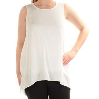 Womens Ivory Sleeveless Jewel Neck Top Size 4