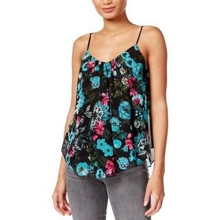 Kensie Womens Camisole Top Floral Printed Swing