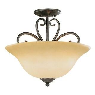 Millennium Lighting 6053 Devonshire 3 Light Semi-Flush Ceiling Fixture