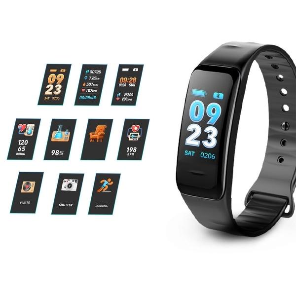 Heart Rate Monitor Watch Blood Pressure Activity Tracker Waterproof Smart Wristband for Kids Women Men - S. Opens flyout.