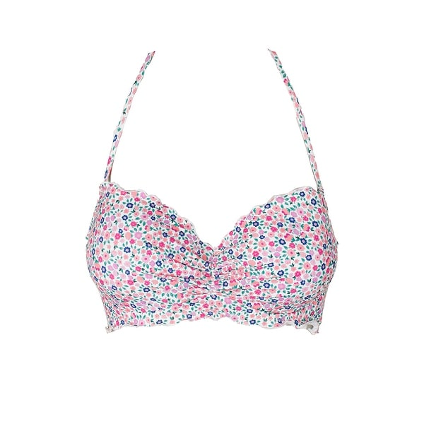 600963b04c Shop Sundazed White Pink Floral Print Nixie Underwire Bra-Sized Halter Bikini  Top 32DD - Free Shipping On Orders Over $45 - Overstock - 27101647