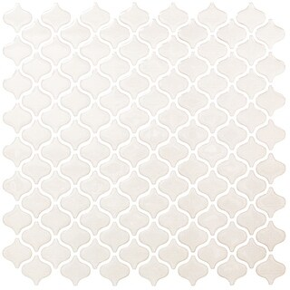 BeausTile Decorative Bianco 4-piece Decorative Adhesive Faux Tile Sheets