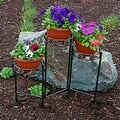 Sunnydaze Tiered Folding Plant Stand - Options Available - Bronze - Thumbnail 0