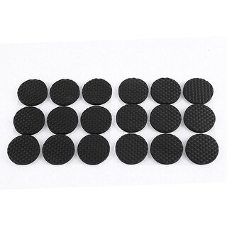 Furniture Foot Protect Round Shape Anti Skid Foam Mat Pad Cushion 18 Pcs Black