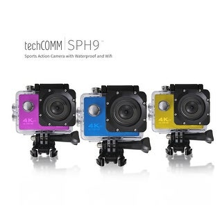TechComm SPH9 Ultra 4K 16MP Waterproof Action Camera with Accessories