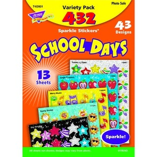 Sparkle Stickers School Days