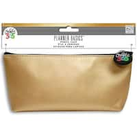 """Gold - Create 365 Happy Planner Pencil Pouch 3.5""""X8.25"""""""