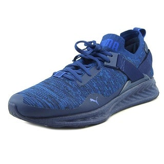 Puma Ignite evoKnit Lo HN Men Round Toe Canvas Blue Sneakers