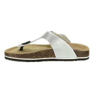 JBU Womens Laura Too Split Toe Casual Slide Sandals