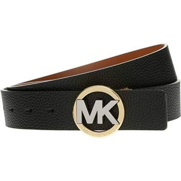 cfaebf578f92 Shop Michael Kors Reversible Black Tan Two Tone MK Circle Logo Buckle Belt  551804C - Free Shipping Today - Overstock - 23621968