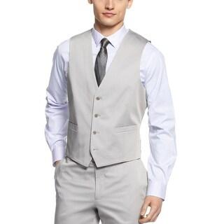 Calvin Klein CK Vest Large L Coldfront Light Grey Slim Fit Buttoned
