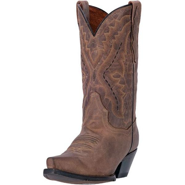 "Dan Post Western Boots Womens 11"" Trinity Orthotic Snip Brown"